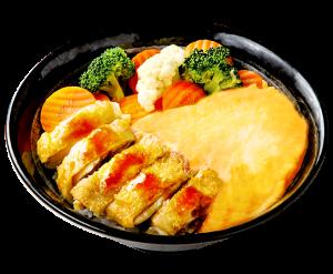 鮮蔬金沙雞肉丼